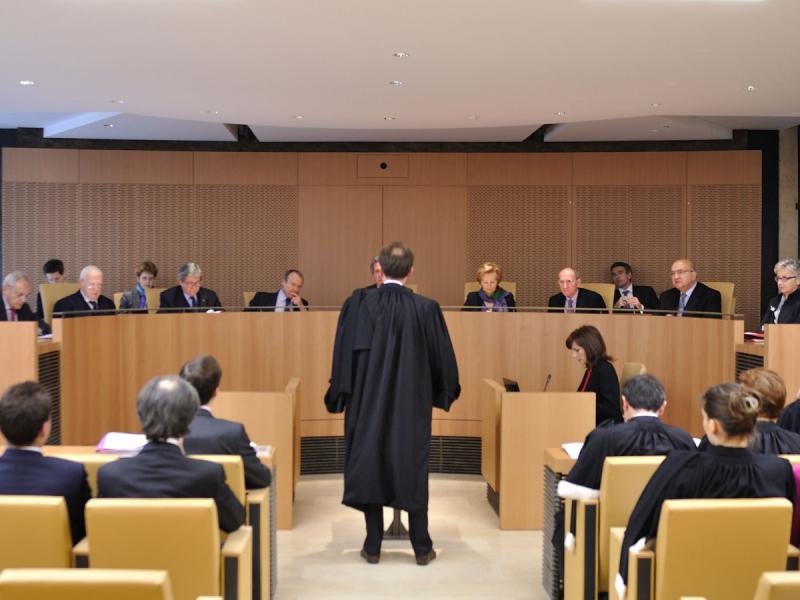 La salle des audiences du conseil constitutionnelle lors d_une audience